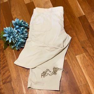 Gloria Vanderbilt Light Kaki Capri Pants 22W